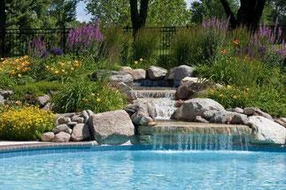 piscina Rachid. Piscinas de acero, piscinas de obra, piscinas de arena, piscinas desbordantes,