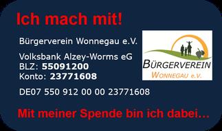 Ich mach mit beim Bürgerverein Wonnegau e.V.!