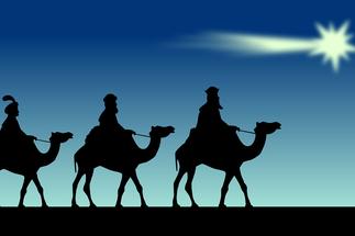 Die Sterndeuter auf dem Weg nach Bethlehem