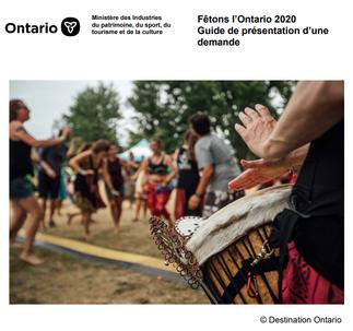 Lien au Guide de présentation d'une demande à Fêtons l'Ontario 2020