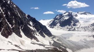 Gletscher Wenns Braunschweiger Hütte Alpen Österreich E5