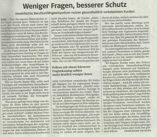 Süddeutsche Zeitung vom 9.10.2014 Rubrik Geld