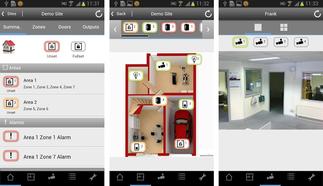 SPC App Android  von Vanderbilt zur Abfrage von Systemzuständen, presented by SafeTech
