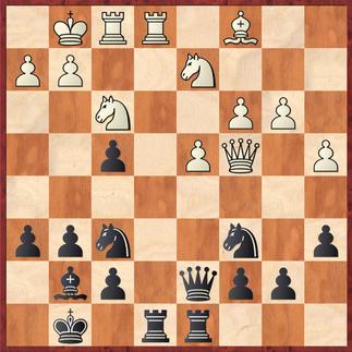 Edwin - Fleischer: Weiß zog hier 23.Se5? was es Andre erlaubte nach Sxe5 24.dxe5 Sg4! seinen Vorteil weiter auszubauen