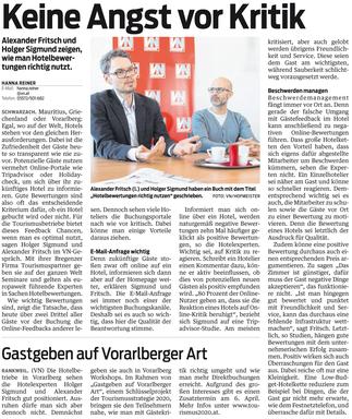 Vorarlberger Nachrichten: Keine Angst vor Kritik mit Alexander Fritsch & Holger Sigmund