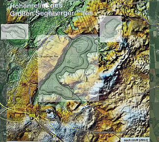 Höhenrelief Umgebung Großer Segeberger See (Tafel Geologischer Lehrpfad & Tiefenkarten, LLUR)