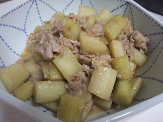 残念だったけど美味しかった山ウドと豚肉の味噌炒め煮