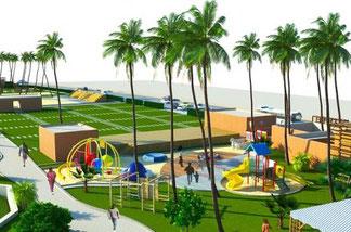 Maquette plage de ngoye conduite par le PCFC et confié aux chinois de Tianyuan Constructions Group Ltd