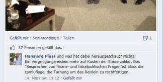 Facebook Kommentar Kritik Regierung