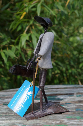 reisender man Figur Fair trade,Fair gehandelte Kunst
