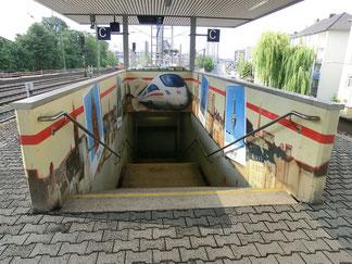 S-Bahnstation - Galluswarte - Ausgang Frankenallee
