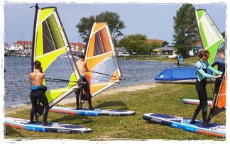 windsurfen lernen, einfach surfen lernen im surfkurs in Rerik an der ostsee