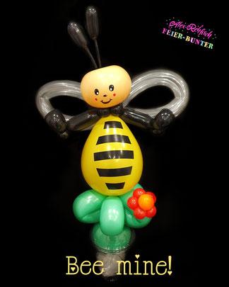 Feier bunter Düren Geschenk Valentinstag Twisting Biene Aachen Ballonclown Balloon