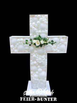 Feier bunter Kinder Kommunion, Taufe, Konfirmation, Beschneidungs Feier Bunter Türdekoration Aachen Düren blau Geschenk Deko