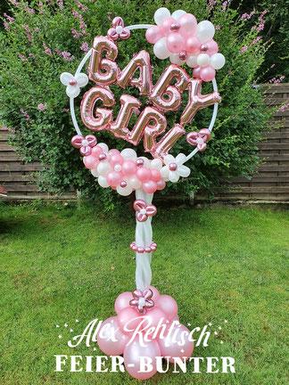Feier bunter Baby Geschenk Geburt Taufe Boy Girl Mädchen Junge blau rosa Aachen Düren
