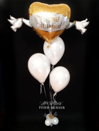 Feier bunter Geschenk Ideen Köln Aachen Düren Ballongeschenke Hochzeit Tag Helium Ballon Tauben