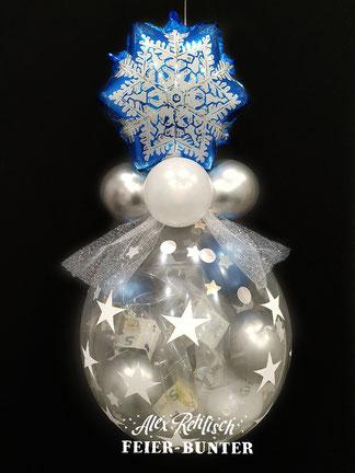 Weihnachten Ballon Geschenk Aachen Düren Eschweiler Gutschein Geld Feier bunter