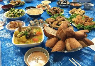 ▶実習生たちが自分で作ったベトナム料理