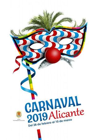 Cartel y programa del Carnaval de Alicante