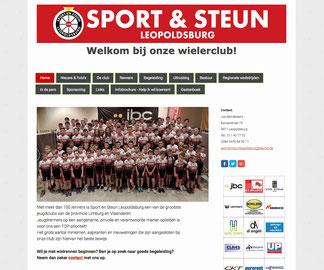 Van Bun Communicatie en Vormgeving - Website Sport en Steun Leopoldsburg