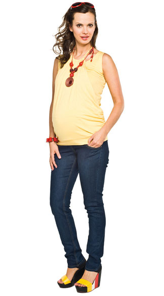 torelle yellow maternity top