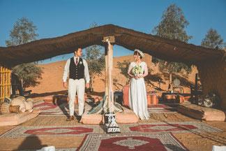 モロッコ/サハラ砂漠でフォトウェディング撮影