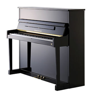 Seiler Klavier Mod. Primus 122, schwarz pol.