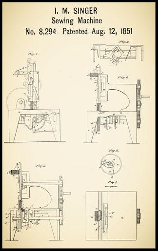US 8.294 August 12, 1851 - I. M. Singer