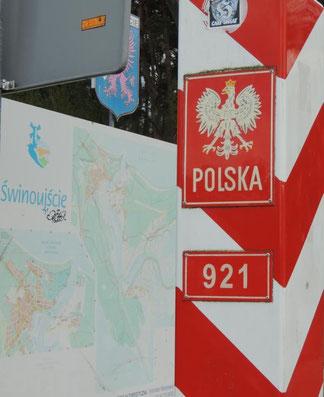 Der polnische Grenzpfeiler