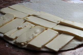 Butter auf Teig
