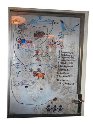 Ksimirs, Cäsars, Fredis und Kerls Tourkarte in der Arktis