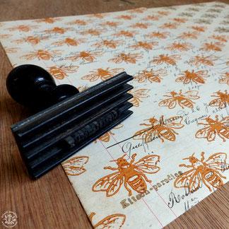 kitsc-paradise kp exposition encre de chine gravure abeille linogravure