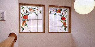 薔薇・デザインのステンドグラス