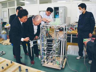 長井工業高校視察風景