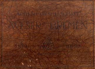 """Von der Actien-Gesellschaft """"Weser"""" 1922 ausgegeben"""