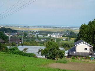 山元ミガキハウスから海側を見る