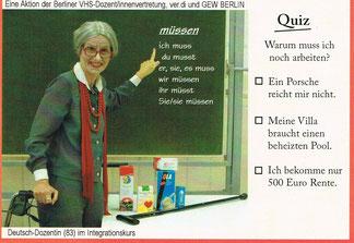 Aktion der Berliner VHS-Dozent/innenvertretung, ver.di und GEW-Berlin 2015