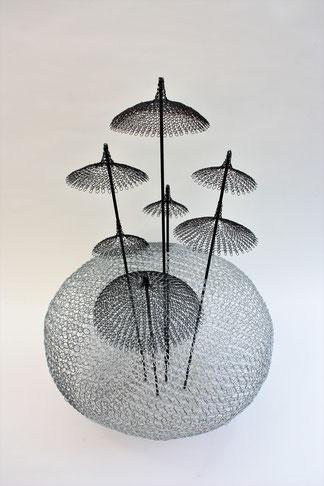 60 - 60 cm / fil de fer - barre métallique