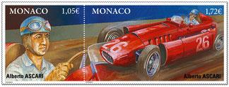 Ascari - Art-auto - Painting F1 - Ferrari D50- Grand-Prix Monaco