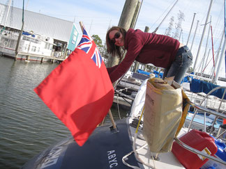 Raising the Ensign