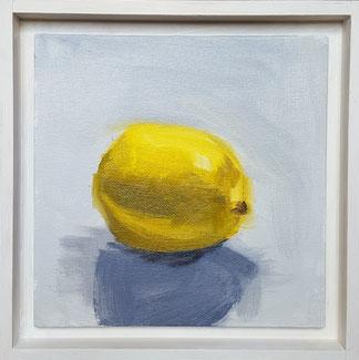 Lemon L01o 20.5x20.5cm oil on Canvas board, Framed