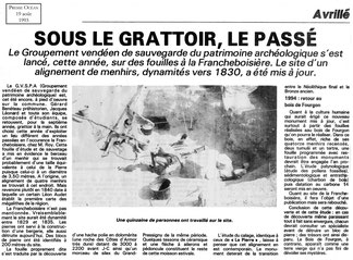 1993 - Sous le grattoir le passé - Presse Océan
