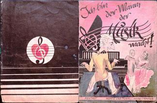 Ich bin der Mann der Musik macht! Umschlag für Musik-Noten von Heinz Traimer. München 1948.