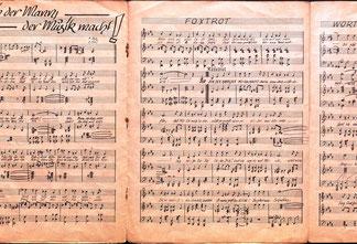Ich bin der Mann der Musik macht! Foxtrott - Musik-Noten von Heinz Traimer. München 1948