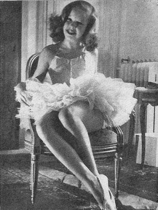 Cécile Aubry (Anne-José Bénard) dite Pucky aux Ballets des Champs Elysées en 1947