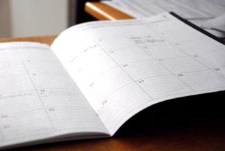 Kalender für Termine und Vorträge von TB-Coaching - Photo by Eric Rothermel on Unsplash
