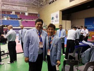 西村先生とタイの国際審判師範