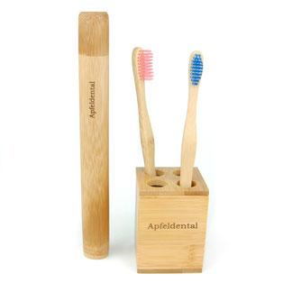 Zahnbürsten im Becher, Etui, Produkte - Bambus - für Bambuszahnbürsten und andere nachhaltige Produkte. Bambus für apfeldental.at - 100% natürlich