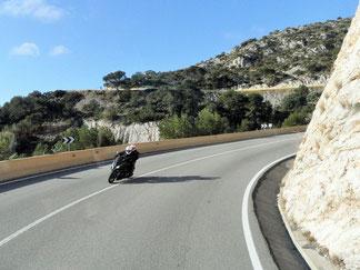 Spanien Küstenstraße Motorrad