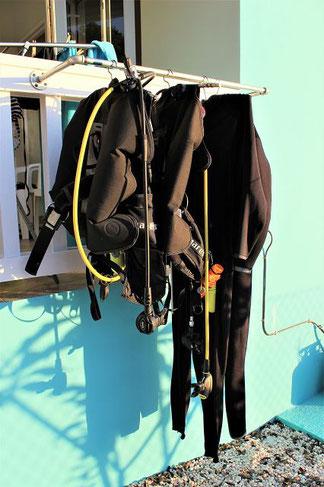 Trockenstange Tauchen CAS BON BINI Curacao
